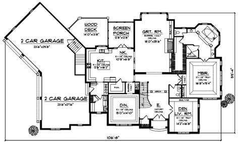 European House Plan 4 Bedrooms 3 Bath 4050 Sq Ft Plan