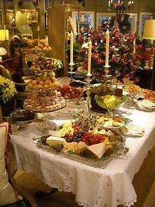 Buffet Table Decorating Ideas For Christmas