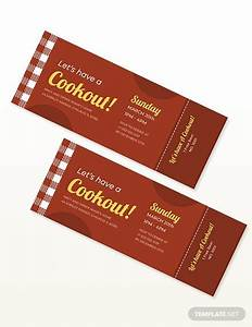 Bbq Party Cookout Ticket Template In 2020