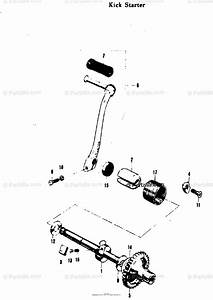 Suzuki Motorcycle 1969 Oem Parts Diagram For Kick Starter