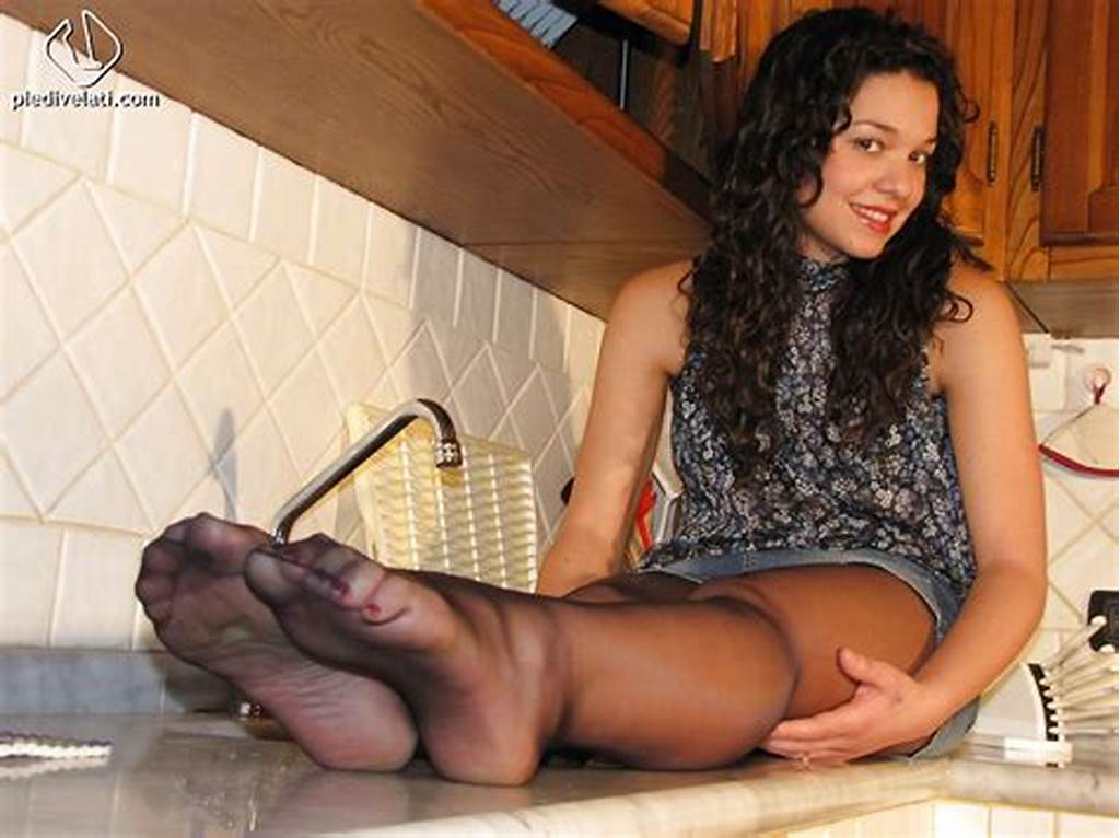 #Beautiful #Brunette #Babe #Luana #Showing #Her #Nasty #Feet #And