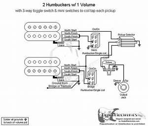 2 Humbuckers  3 1 Volume  Individual Coil Taps