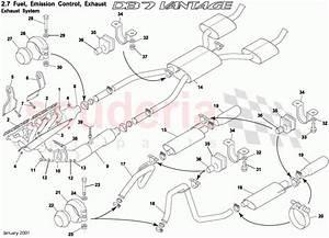 Aston Martin Db7 Vantage Exhaust System Parts