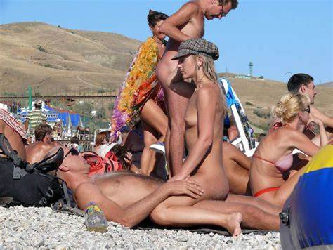 Nudist Outdoor Beach Scenes With