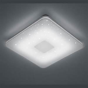 Led Deckenleuchte Flach : quadratische led deckenleuchte mit sternenhimmel ~ Watch28wear.com Haus und Dekorationen