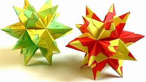 Origami Stern 5 Zacken : modulares origami bascetta stern falten bascetta star youtube ~ Watch28wear.com Haus und Dekorationen