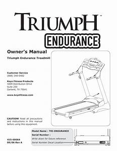 Tri-endurance Treadmill Tri-endurance Manuals