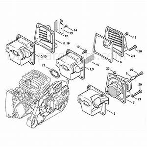 Stihl Ms 460 Chainsaw  Ms460 D  Parts Diagram  Muffler