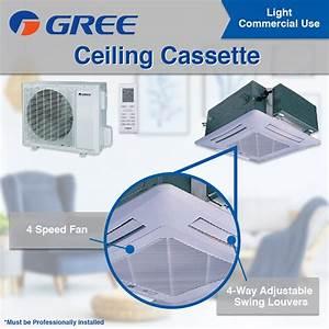 Gree 34000 Btu Ductless Ceiling Cassette Mini Split Air