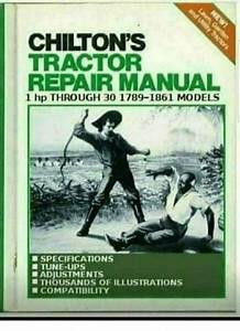 Chilton U0026 39 S Tractor Repair Manual 1 Hp Through 30 1789