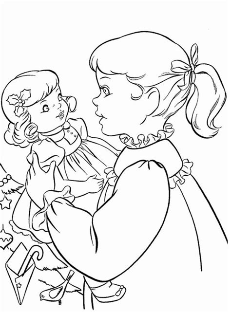 American Girl Coloring Pages Christmas coloring pages