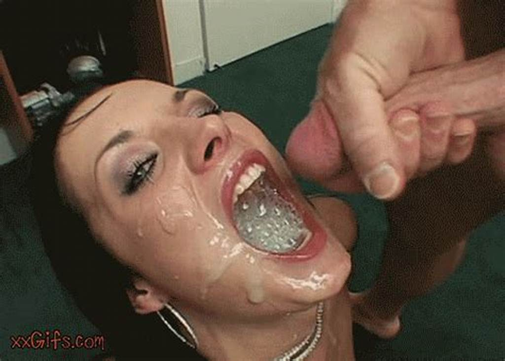#Girl #Swallows #Mouthful #Of #Cum #Gif