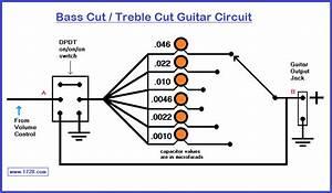 Bass Cut    Treble Cut Guitar Tone Circuit