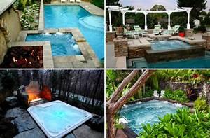 16 idees pour amenager votre jacuzzi d39exterieur des idees With decoration exterieur pour jardin 16 salle de bain a l italienne