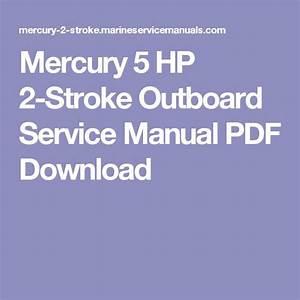 Mercury Outboard Service Manual Pdf Free