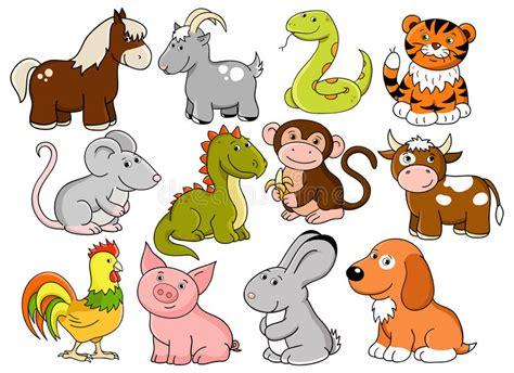 Vektorsymbole Des Chinesischen Horoskops Vektor Abbildung - Illustration von drache ...