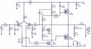 Wiring Schematic Diagram  50 Watts Mosfet Audio Amplifier