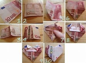 Herz Basteln Geld : 10 euro geldschein zu einem herzen falten eurogami ~ A.2002-acura-tl-radio.info Haus und Dekorationen