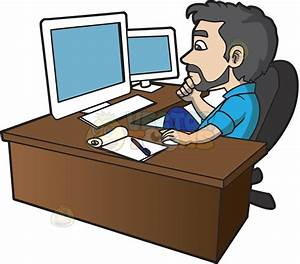 man using computer clip art - DriverLayer Search Engine