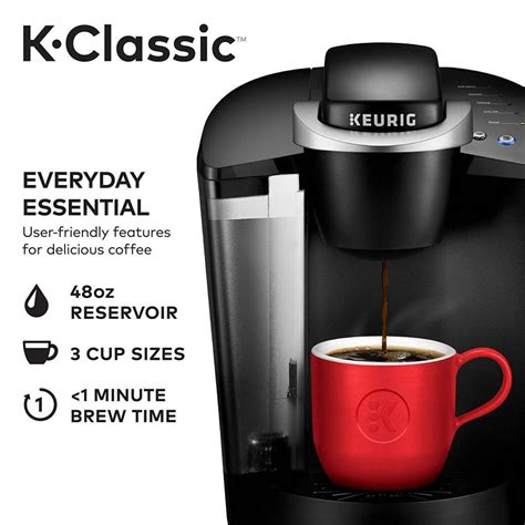 All the lights have their activities. Keurig K55 K-Classic Single Serve Programmable K-Cup Pod Coffee Maker, Black Offer ...