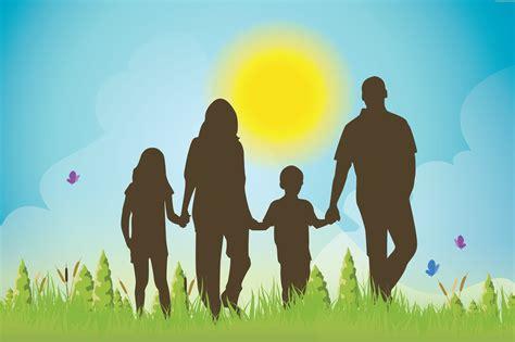 Family silhouette vector | PSDGraphics