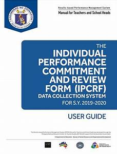 User Guide For The Ipcrf Data Collection System  Sy 2019