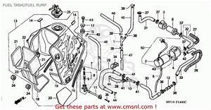 Honda Xrv750 Africa Twin 1995  S  Germany Fuel Tank  Fuel