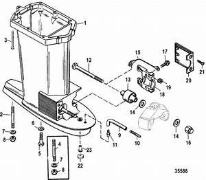 Mariner 60 Hp  3 Cylinder  Bigfoot Driveshaft Housing Parts