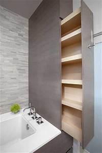 Meuble De Rangement Pour Salle De Bain : 10 rangements salle de bain pour un gain de place maxi ~ Teatrodelosmanantiales.com Idées de Décoration