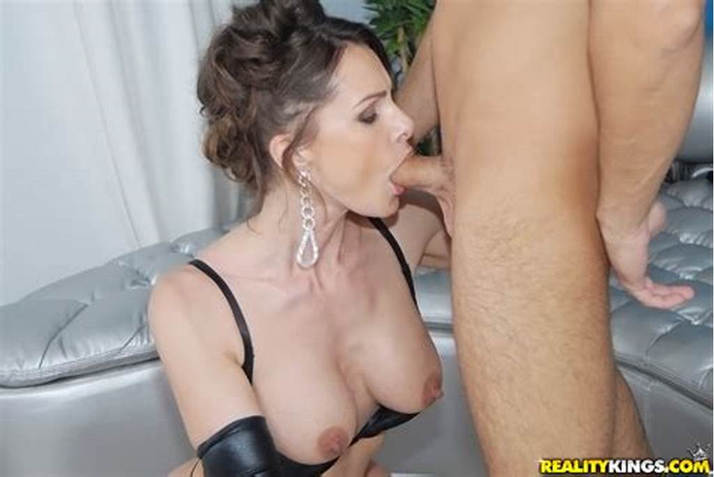#Hot #Milf #In #Leather #Gloves #Nora #Noir #Gives #Sensual #Blowjob
