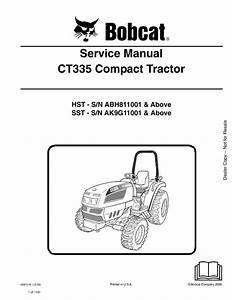 Bobcat Ct335 Compact Tractor Service Manual Pdf Download