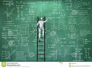 Robot Solve Math Problem Stock Illustration  Illustration