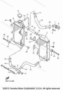 Yamaha Motorcycle 2011 Oem Parts Diagram For Radiator Hose