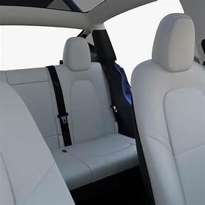 Tesla Model Y Blue with interior - Blender Market
