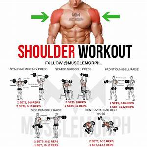 S     Musclemorphsupps Com   Shoulder Workout Exercise Delts Gym Bodybuilding Musclemorph Mus