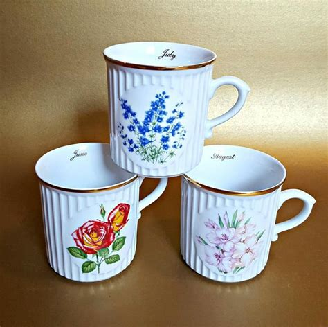 How much does a cup of drip coffee cost? Set of 12 Flower Of The Month Coffee Cups Mugs | Crown D Czechoslovakia 12 m. Porcelain Coffee ...