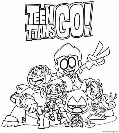 Coloring Teen Pages Printable Cartoon Titans Sheets