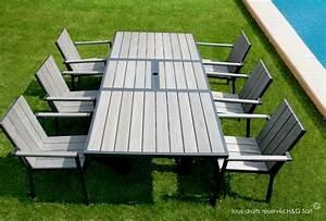 Mobilier Jardin Pas Cher : table de jardin aluminium en solde meuble jardin metal somum ~ Melissatoandfro.com Idées de Décoration