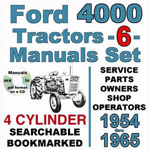 1963 Ford 4000 Tractor Manual