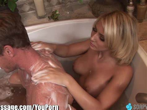 Soapymassage Breasty Milf Madison Ivy Soapy Foot Job