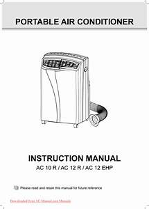 Portable Air Conditioner Manual Pdf  U0026gt  Donkeytime Org