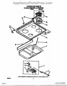 Parts For Whirlpool Rf365pxxw0  Cooktop Parts