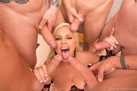Loads Of Spunk During Gang Parties Women Alena Croft Is Surrounded By Huge Ball During