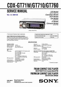Sony Cdx Gt710 Wiring Diagram
