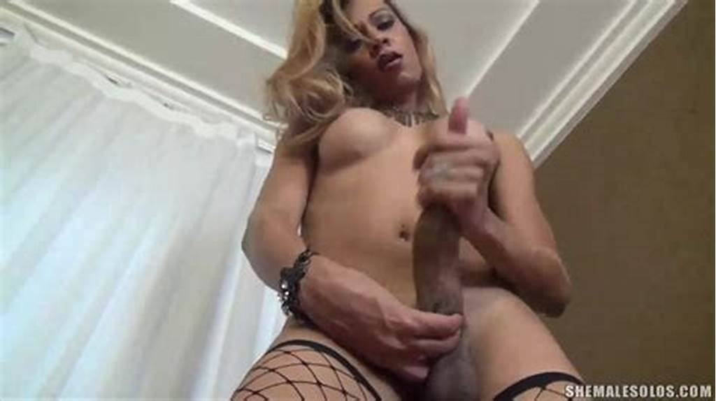 #Big #Dick #Shemale #Jerking #Off #Xxxbunker
