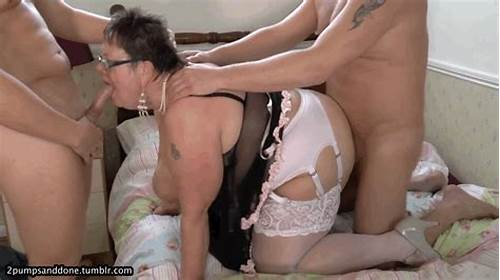 Dancingcock Grey Haired Bear Orgasm Threesome #Horny #Grannies'