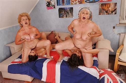 Passionate Granny In A Nude #Lustful #Teenage #Lesbians #Have #A #Foursome #With #Their #Mature