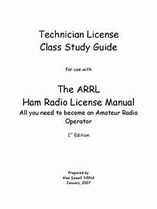 Technician License Class Study Guide