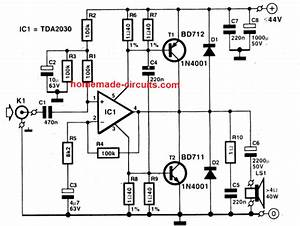 Wiring Diagram  For Home Made Stereo Amplifier