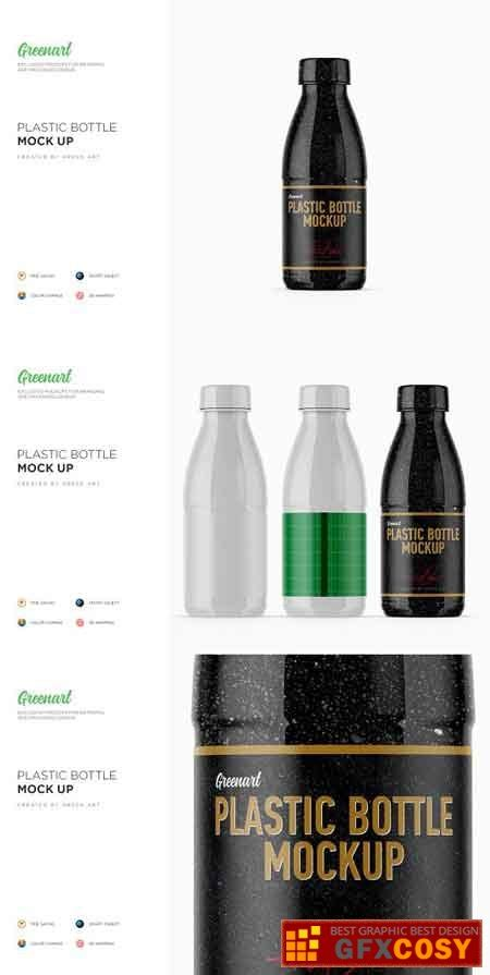 Simple edit with smart layers. Glossy Plastic Dairy Bottle Mockup 2760891 » Free Download ...